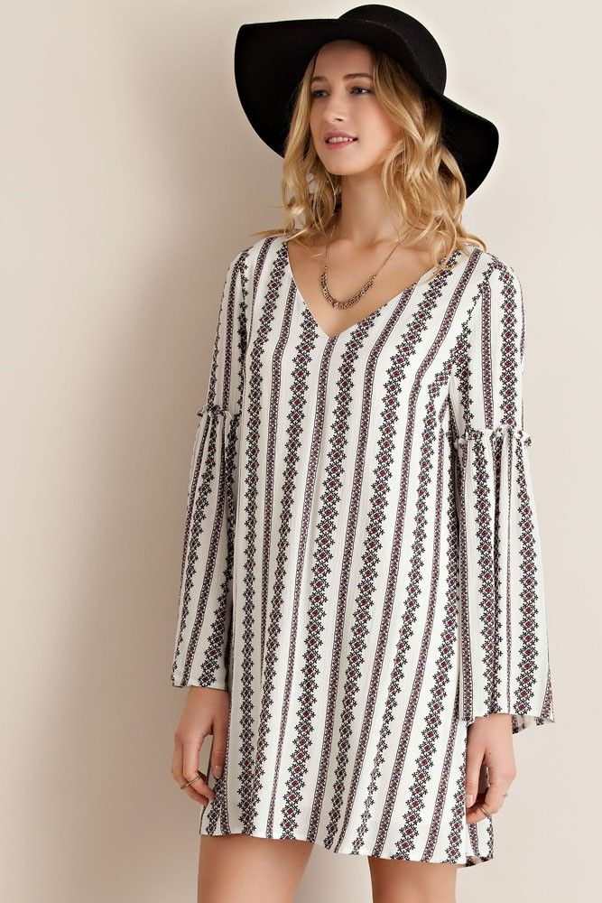 New arrivals trumpet sleeve dress.