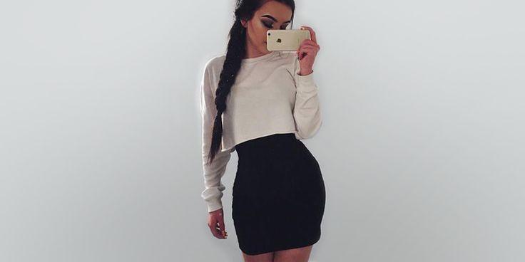 Ideas para combinar un vestido pegadito