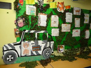Display of 'Bus Shelter Design Competition' entries at Burlish Park Primary School - 2010