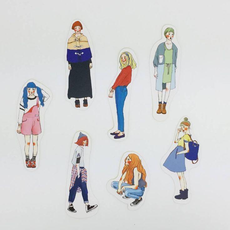 Girls big stickers sets 92 pic - La dolce vita | Pinkoi