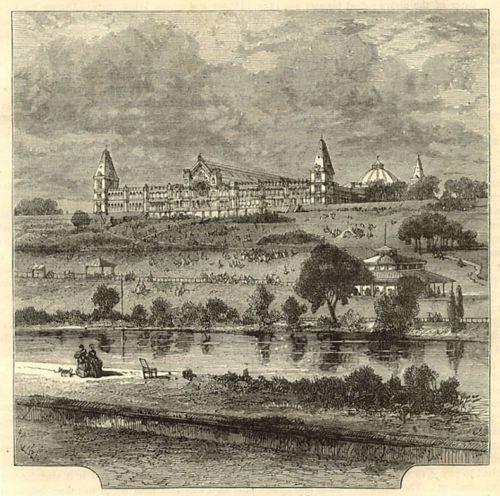 London-Alexandra-Palace-antique-engraving-1883-ready-mounted