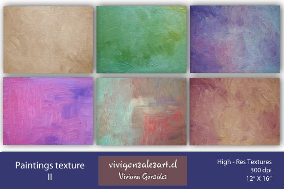 Paintings texture II by ViviGonzalezArt on Creative Market
