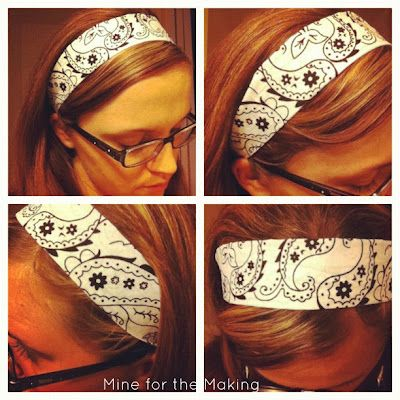 Bandana Headbands {tutorial} | Mine for the MakingMine for the Making