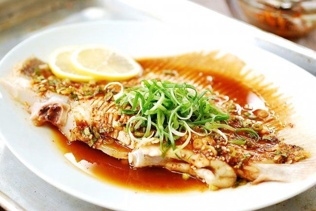 Skate is a very popular fish in Korea! This steamed skate wing is easy to make and delicious with a Korean soy based sauce.