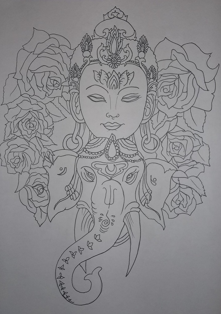 Work in progress, tattoo design outline: Taryn Healey