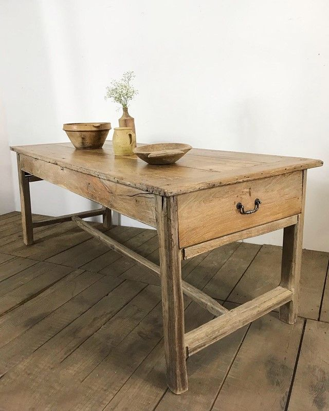 19th Century French Farmhouse Elm Kitchen Table The Hoarde In