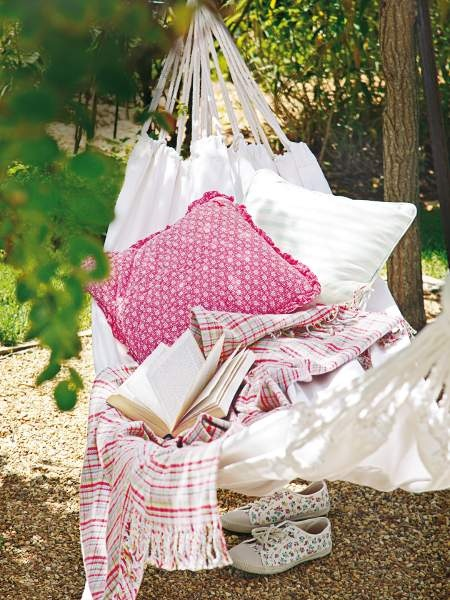 Anywhere there is a hammock....is a happy place!  Especially one as beautiful and inviting as this!