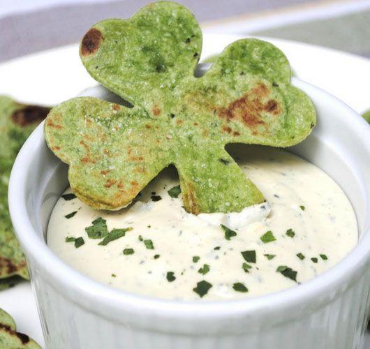Click Pic for  50 St Patricks Day Food Ideas - Shamrock Pita Chips   St Patricks Day Recipes
