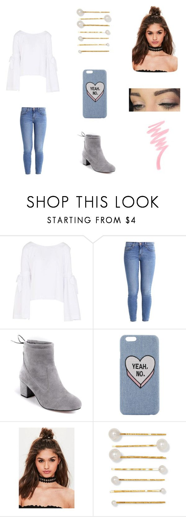 """""""Ok,no"""" by xgalaxyunicornx on Polyvore featuring Free People, Current/Elliott, Missguided, Jennifer Behr and Victoria's Secret"""