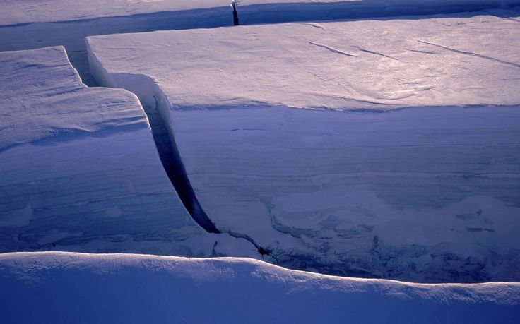 Crevices in ice-flow