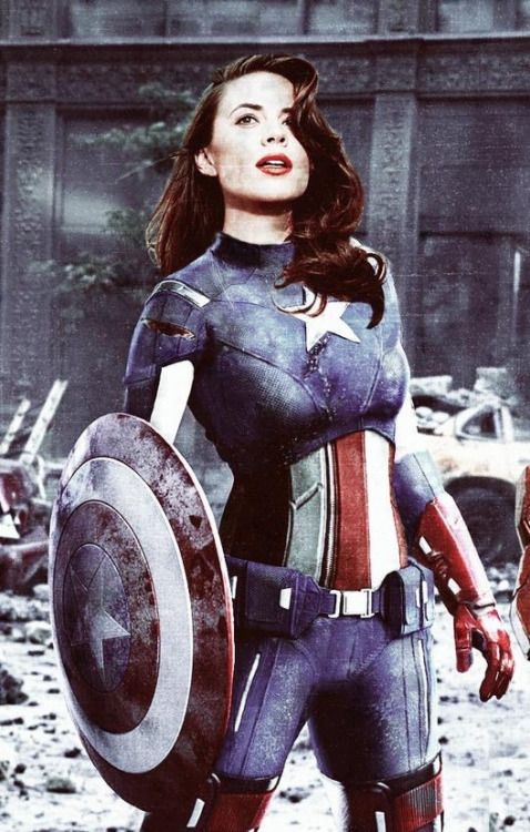 Hayley Atwell as Captain America... By far the best one I've ever seen, so awesome!