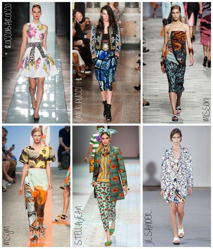 Milan Fashion Week 2014 (Spring) Day 4 & 5: Print Mixing