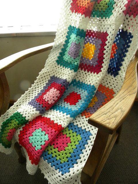 pretty crochet throw