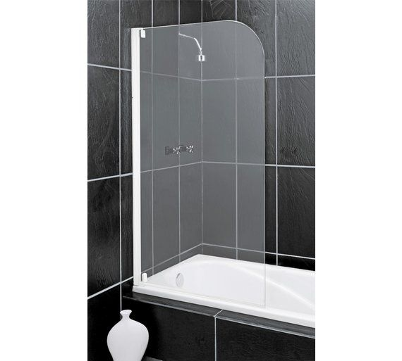 Buy Argos Home Half Framed White Radius Bath Shower Screen Shower Enclosures Screens And Trays Argos Shower Screen Shower Bath Bath Shower Screens