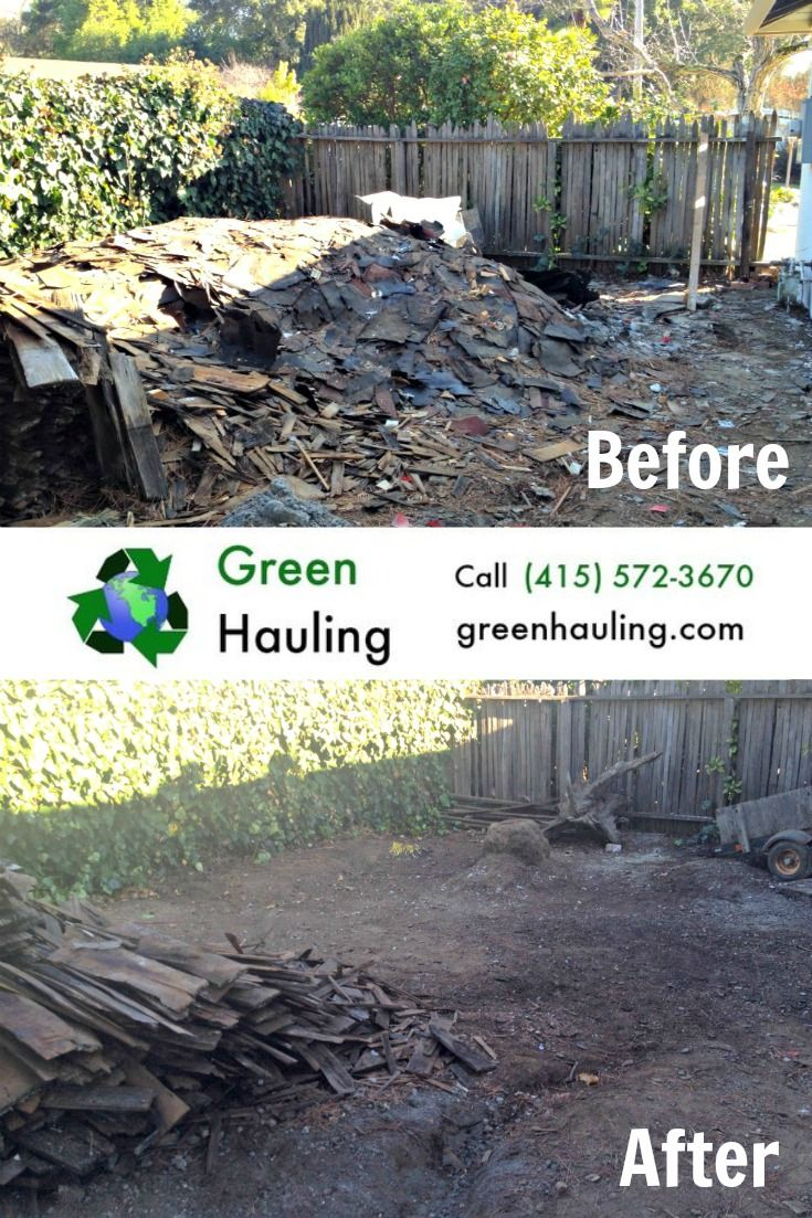 Take care of that unsightly debris pile with one call to Green Hauling. We're the North Bay's premier eco-friendly junk hauling service.