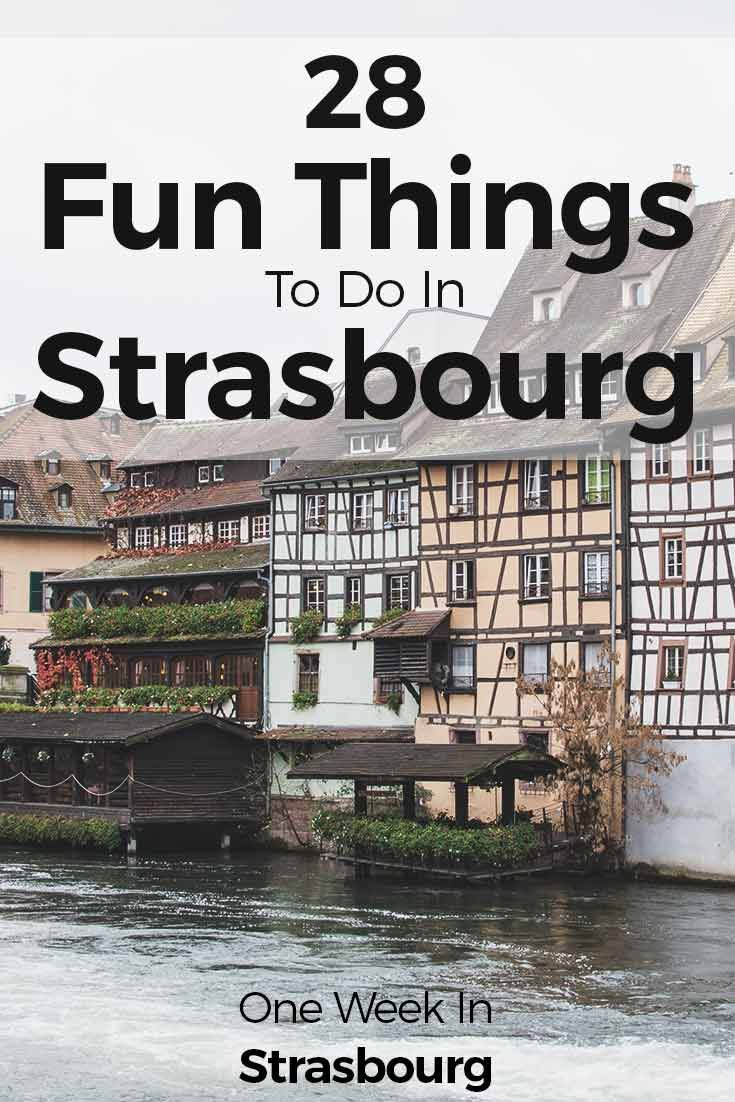 Strasbourg is one of the hidden gems in Europe. Strolling around the streets is amazing not only because the Alsace houses are so pretty, but also because there are so many things to do in this city. With an easy-going flair around the streets and plenty of bars and restaurants, we just wanted to summarize 28 things to do in Strasbourg. Check them out at http://one-week-in.com/things-to-do-in-strasbourg-france/