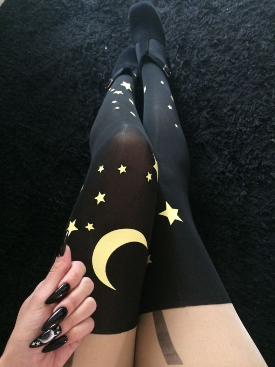 What a witchy but wonderful set of knee high stockings.