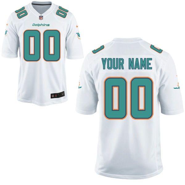 Nike Men\u0027s Miami Dolphins Customized White Game Jersey