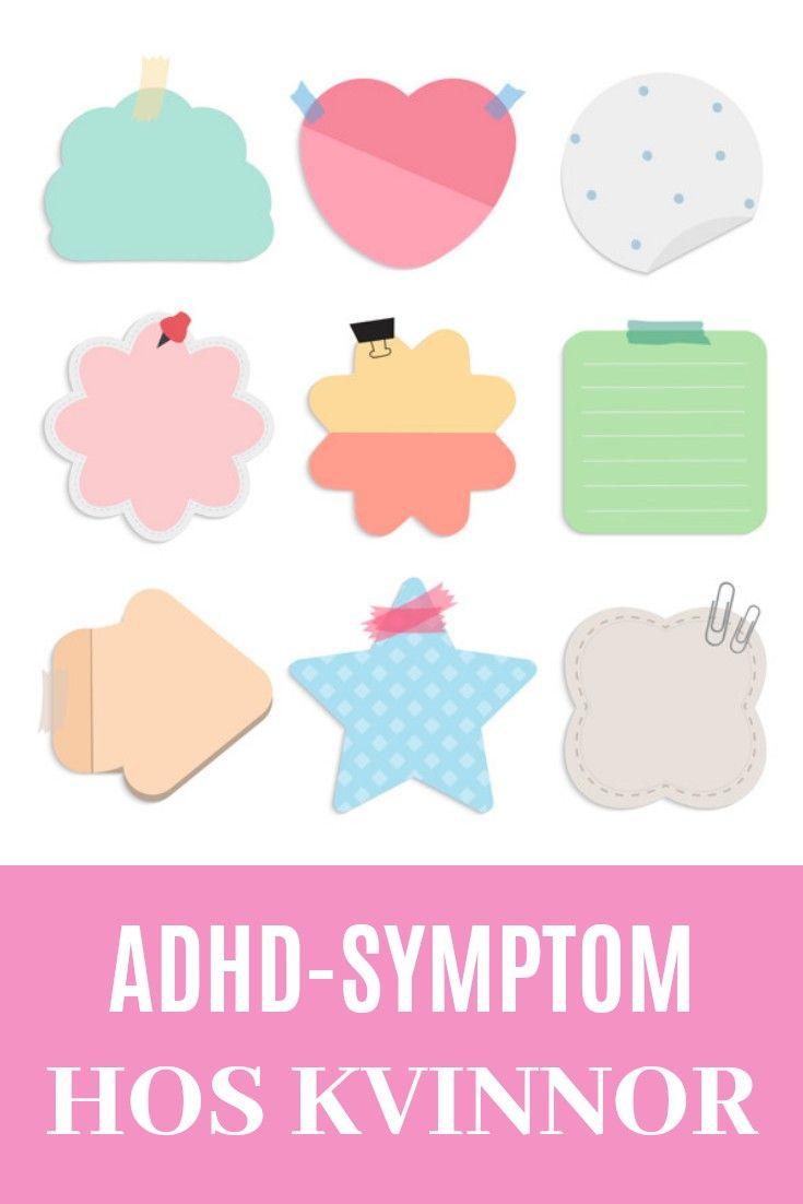 adhd vuxen kvinna symptom