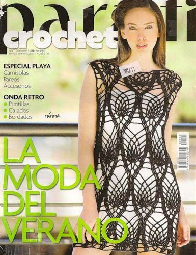 Revista de prendas tejidas para dama.  En español  Журнал по вязанию крючком на испанском языке.