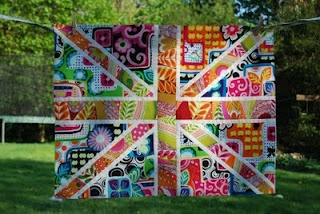 Lily's Quilts: Double Fat Jack - the tutorial  I am SOOOO making this......♥: Quilt Inspiration, Quilt Block, Jack Quilt, Jack O'Connell, Tutorial, Lily S Quilts, Double Fat, Fat Jack, Union Jack