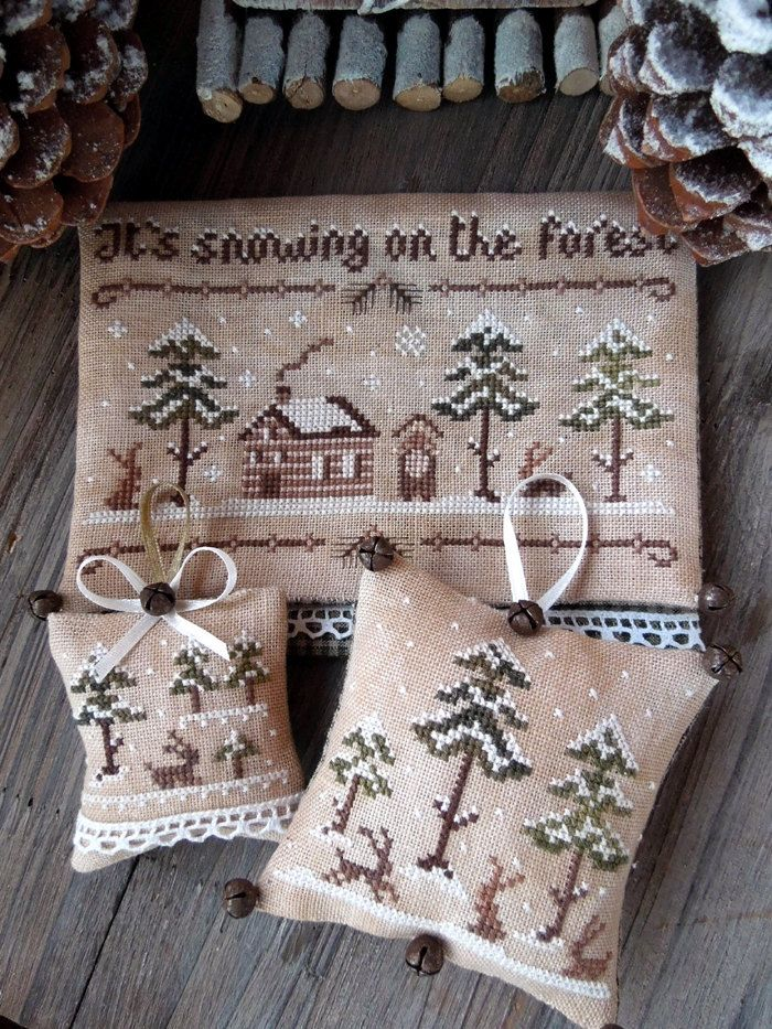 The Snowy Forest - PDF Cross Stitch Patterns Set. $12.00, via Etsy.