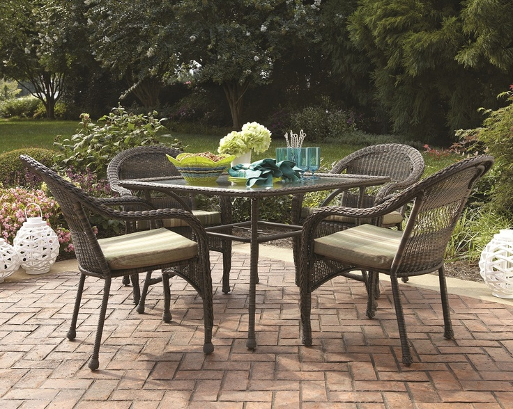 Garden Treasures Severson Patio Dining Chair In All Weather Brown Wicker Make Summer Brighter