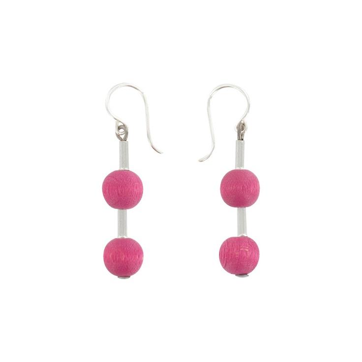 Aarikka - Earrings : Pippuri earrings, pink