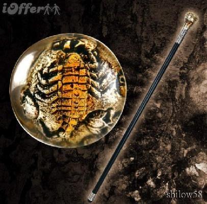 Real Scorpion Clear Lexan Executive Sword Cane Walking