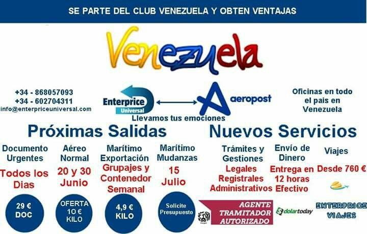 Carga hacia Venezuela.