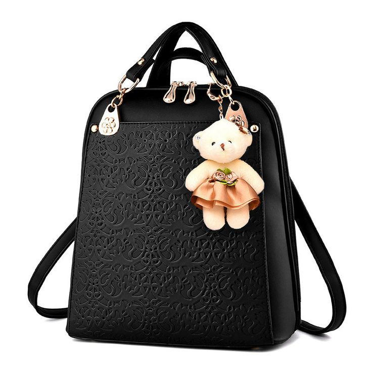 SMINICA High Quality Backpack Women 2017 Oxford Embossed Fashion Black Brand Back Pack School Bag For Teenagers Girls Bagpack