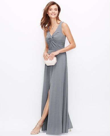 Image of Satin Jersey Twist Gown