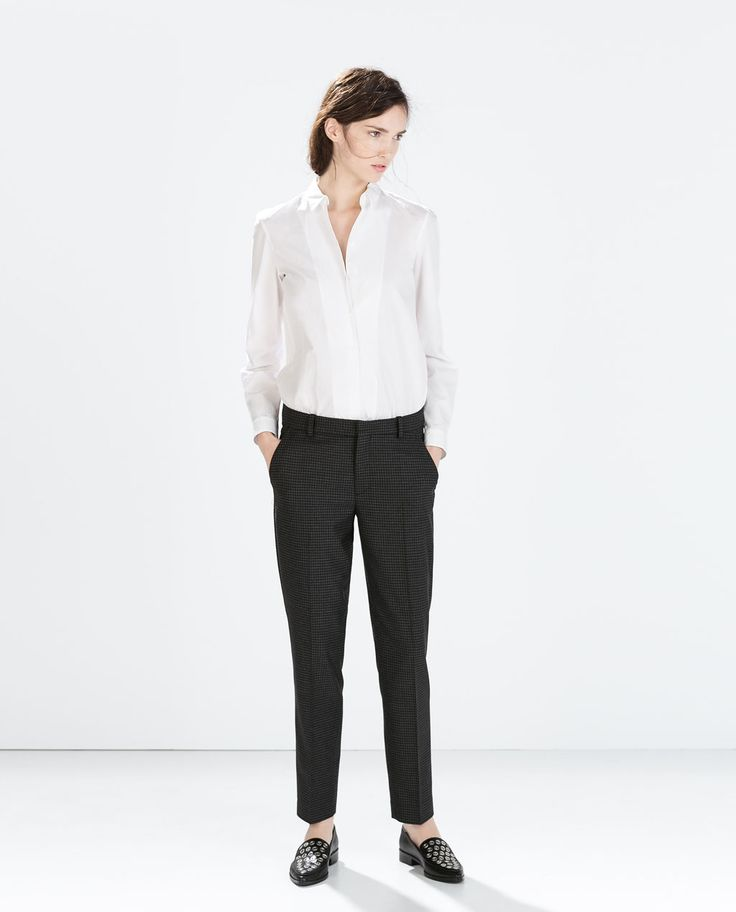 Image 1 of PRINTED SKINNY TROUSERS from Zara