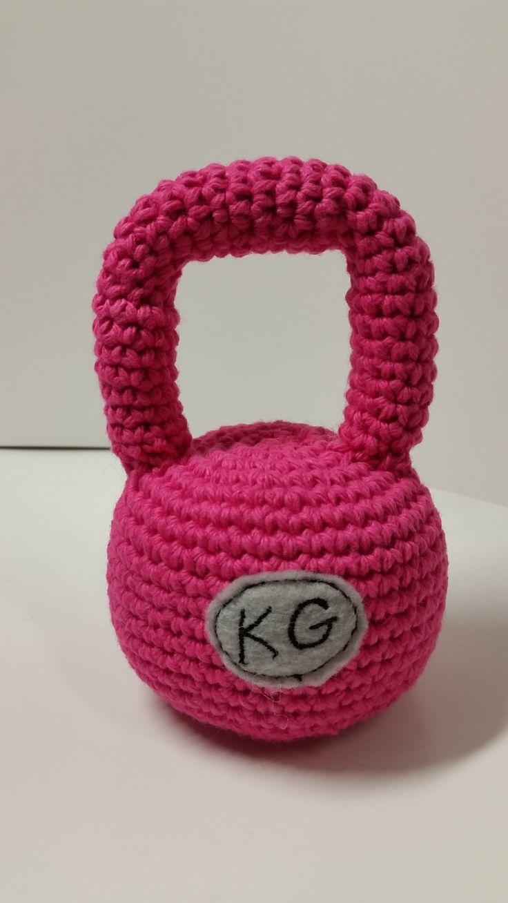 Crossfit Baby / Crochet Kettlebell Softie by TheLittleRedEngine, $15.00