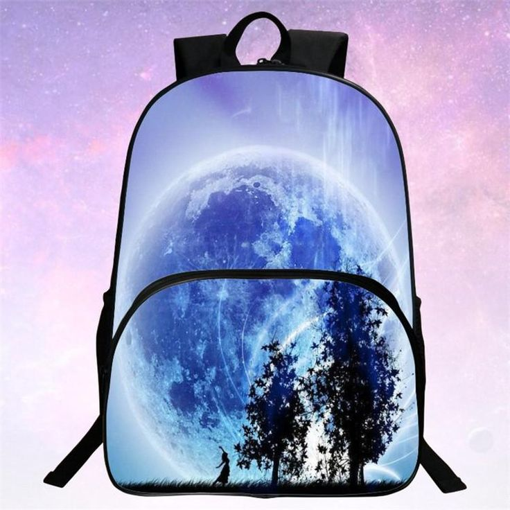 RUNNINGTIGER Children School Bags Galaxy / Universe / Space 24 Colors Printing Backpack For Teeange Girls Boys Star Schoolbags