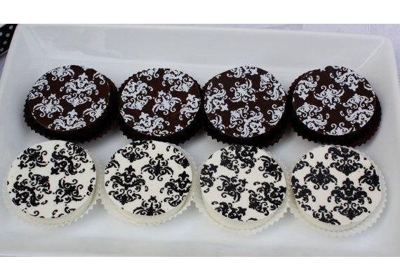 Damask printed chocolates