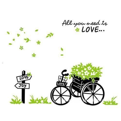 Oferta: 3.68€ Dto: -58%. Comprar Ofertas de YOKIRIN Pegatinas Adhesivos Removible Decorativos de Pared para sala de estar dormitorio estilo simple -Bicicleta barato. ¡Mira las ofertas!
