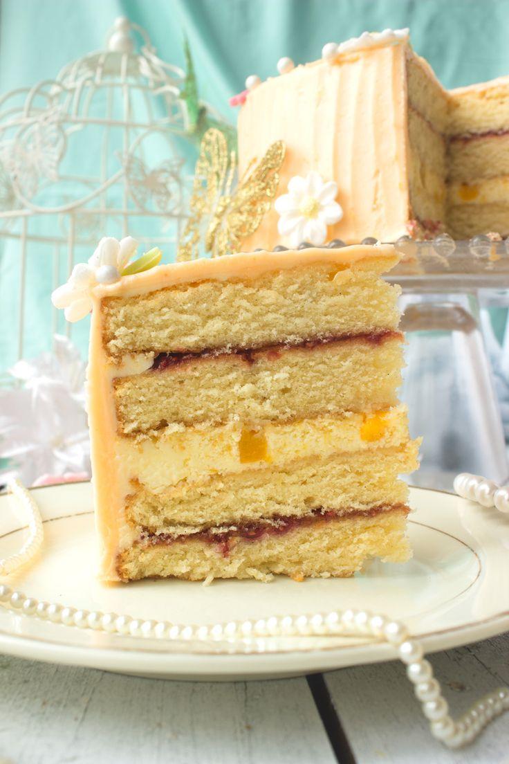 Peach Melba Cake - Oh So Sweet Baker