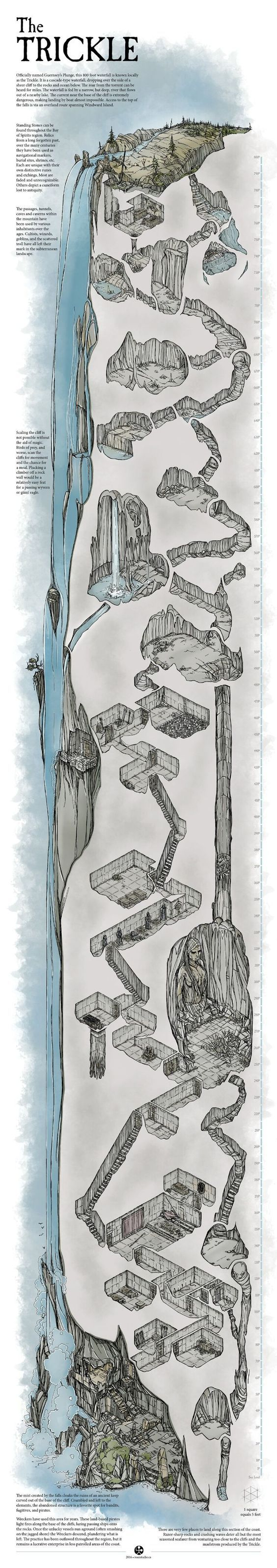 The Trickle Cavern Map 9 best Dnd