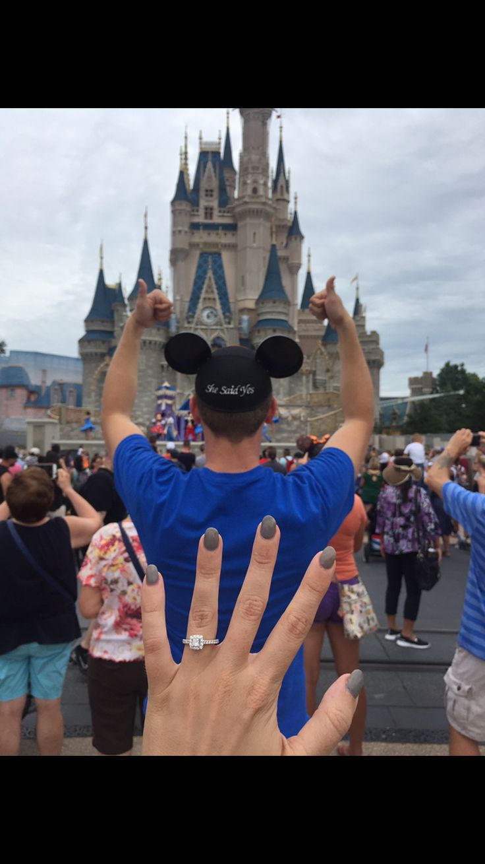 She said yes! Walt Disney World