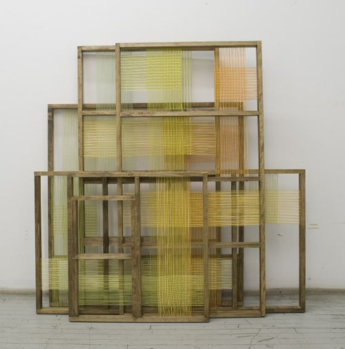 woven construction layers by Julia Lines Wilson