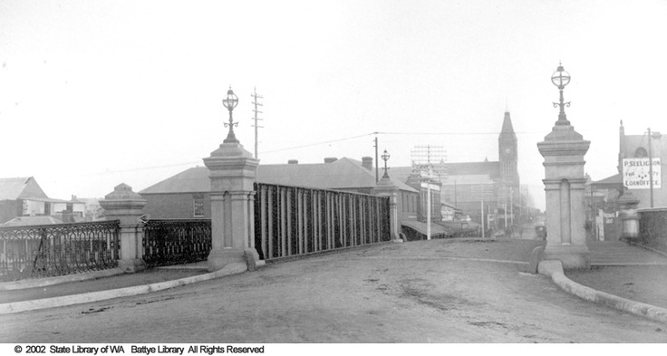 Beaufort Street Bridge, Perth 1895