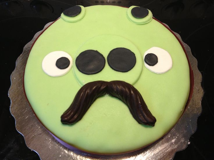 Angry Birds Pig Moustache Cake