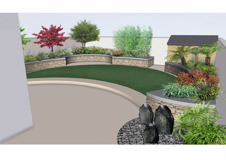 #Garden #Design for #FamilyGarden in #Knocklyon www ...