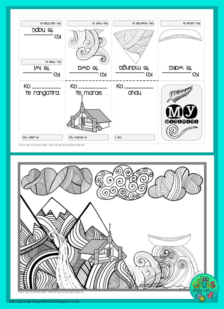 Green Grubs Garden Club: FREE Mihi/Pepeha template {1-cut-book}
