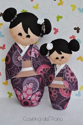 Cute Kokeshis dolls
