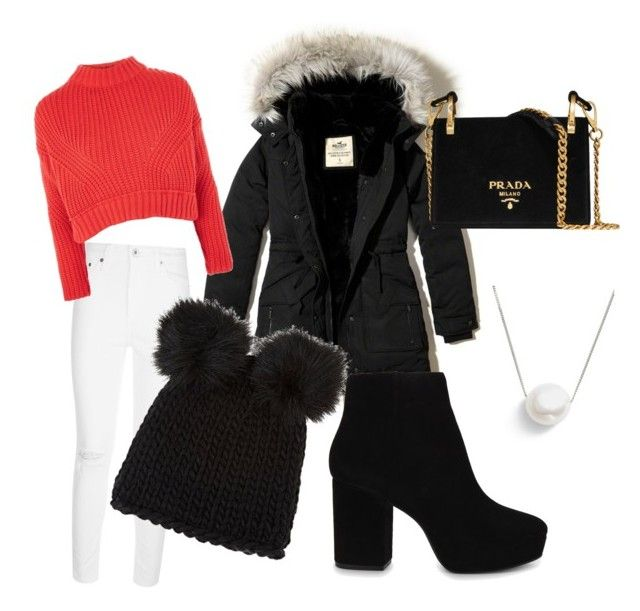 """""""Winter wonderland"""" by casa03 on Polyvore featuring Hollister Co., AG Adriano Goldschmied, Topshop, Barneys New York, ALDO, Prada and Chan Luu"""