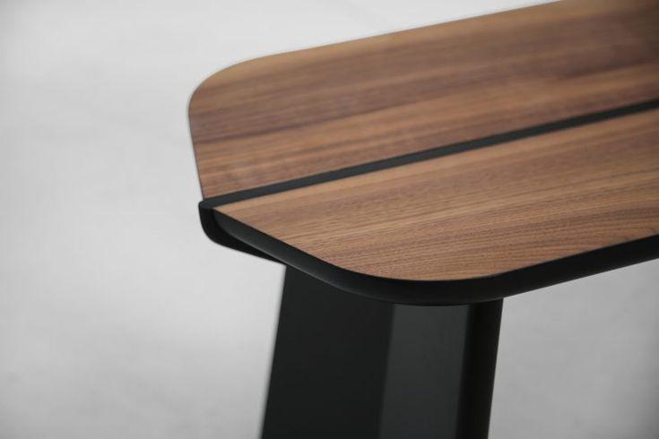 M A T T H I A S L E H N E R  CANTINA bench  in natural walnut & silk-matt black