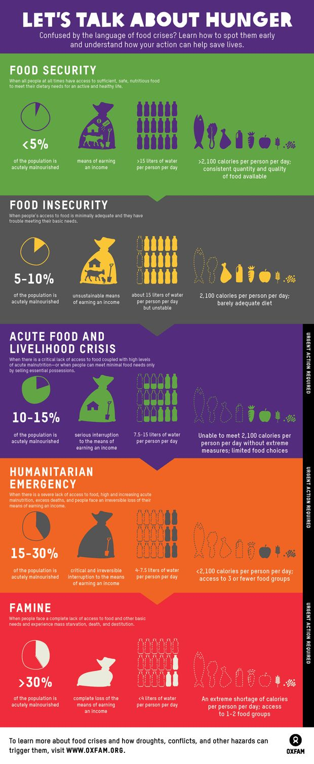 Food infograph, Oxfam defines food security