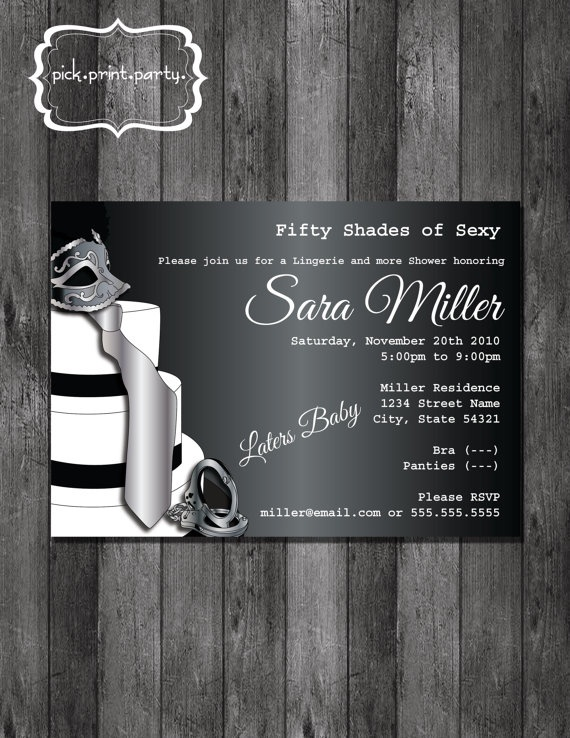 39 Best Fifty Shades Of Grey Party Ideas Images On Pinterest 50
